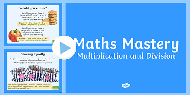 Year 2 Maths Mastery Multiplication and Division PowerPoint