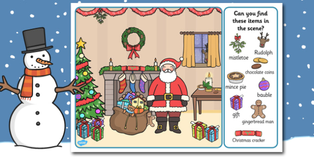 Christmas Picture Finding Activity - christmas, picture, finding, activity