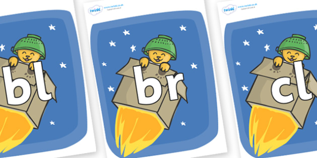 Initial Letter Blends on Rockets (Whatever Next) to Support Teaching on Whatever Next! - Initial Letters, initial letter, letter blend, letter blends, consonant, consonants, digraph, trigraph, literacy, alphabet, letters, foundation stage literacy