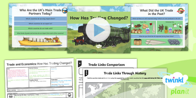 PlanIt - Geography Year 6 - Trade and Economics Lesson 6: How Has Trading Changed Lesson Pack