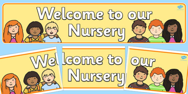 Welcome to Our Nursery Display Banner - display, banner, welcome