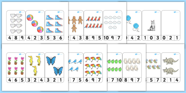 Number Recognition To 10 Peg Activity - activities, numbers, pegs, counting, number, number recognition, numerals
