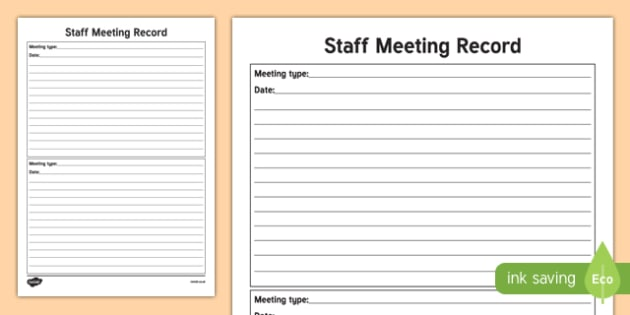 ROI Teacher Staff Meeting Record