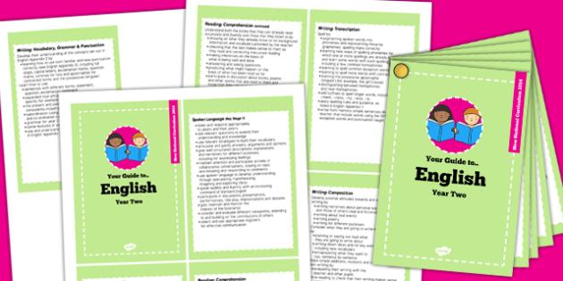 2014 Curriculum Cards Year 2 English - new curriculum, literacy