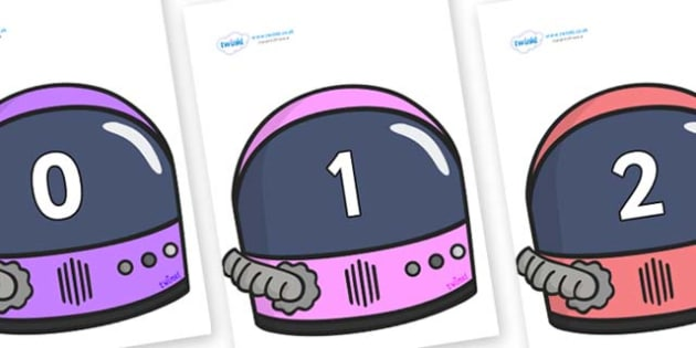 Numbers 0-100 on Astronaut Helmet - 0-100, foundation stage numeracy, Number recognition, Number flashcards, counting, number frieze, Display numbers, number posters