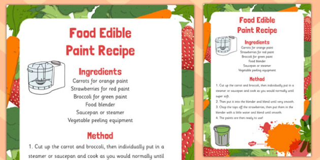 Food Edible Paint Recipe - food, edible, paint, recipe, eyfs