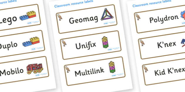 Owl Themed Editable Construction Area Resource Labels - Themed Construction resource labels, Label template, Resource Label, Name Labels, Editable Labels, Drawer Labels, KS1 Labels, Foundation Labels, Foundation Stage Labels