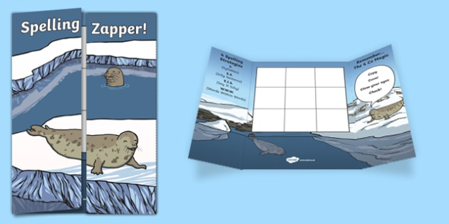 Seal Themed Blank Spelling Zapper - spelling zapper, spell, spelling, zapper, dyslexic, dyslexia, learn, tricky words, personalise, words, blank, seal