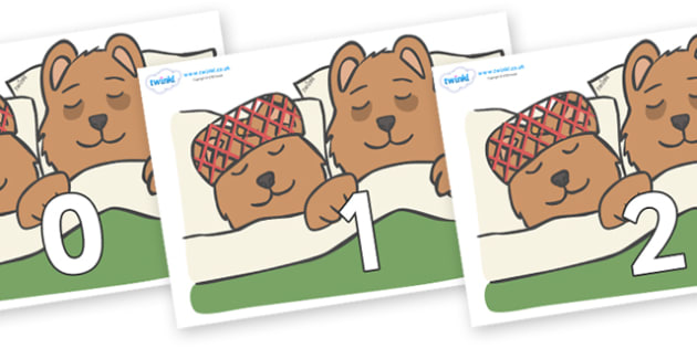 Numbers 0-31 on Mummy & Daddy Bear - 0-31, foundation stage numeracy, Number recognition, Number flashcards, counting, number frieze, Display numbers, number posters