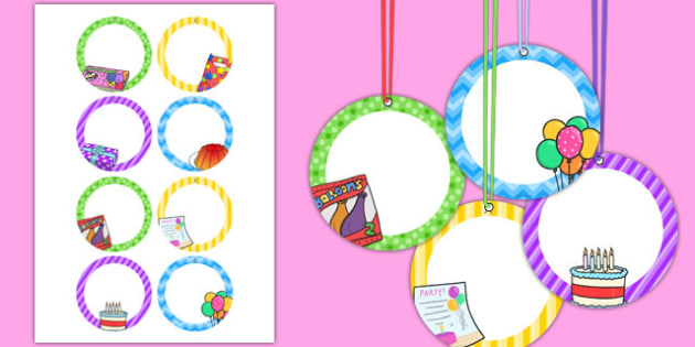 8th Birthday Party Name Tags - 8th birthday party, 8th birthday, birthday party, name tags