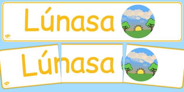 Lúnasa Display Banner Gaeilge - gaeilge, year, months of the year, august