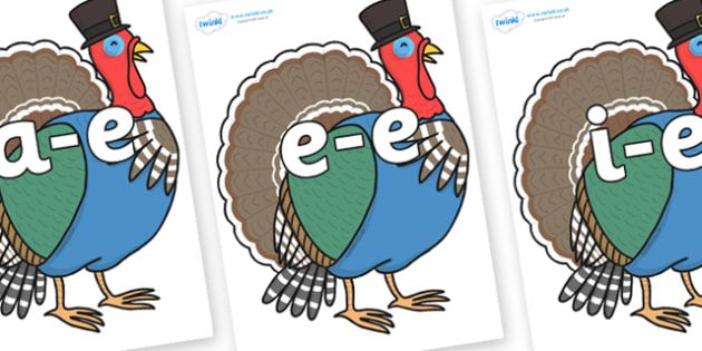 Modifying E Letters on Turkey Lurky - Modifying E, letters, modify, Phase 5, Phase five, alternative spellings for phonemes, DfES letters and Sounds