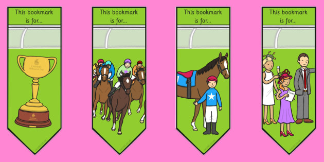 The Melbourne Cup Bookmarks - australia, melbourne cup, bookmarks