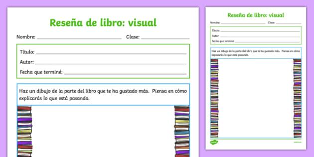 Reseña de libro - visual