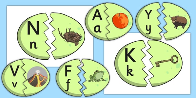 Alphabet Matching Dinosaur Eggs - a-z, match, order, dinosaurs