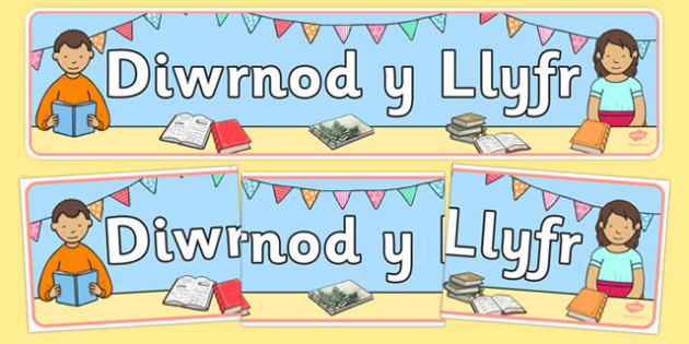 Baner Arddangos Diwrnod y Llyfr Welsh - World Book Day, Book Day, literacy, English, Wales, display, banner