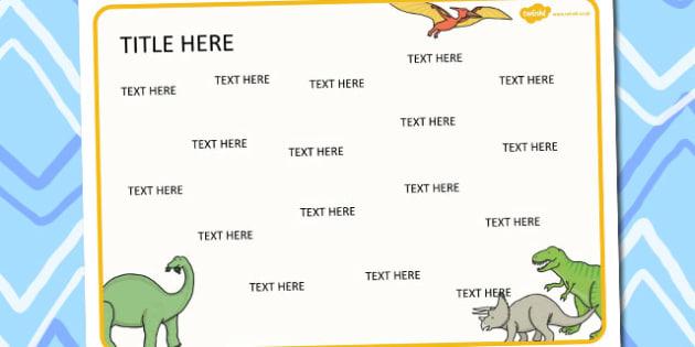 Dinosaurs Themed Editable Word Mat - literacy, words, writing