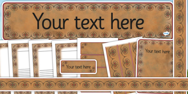 Iron Age Themed Editable Display Pack - the iron age, history