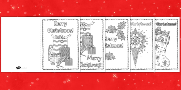 Mindfulness Colouring Christmas Cards - mindfulness, colouring, christmas, cards