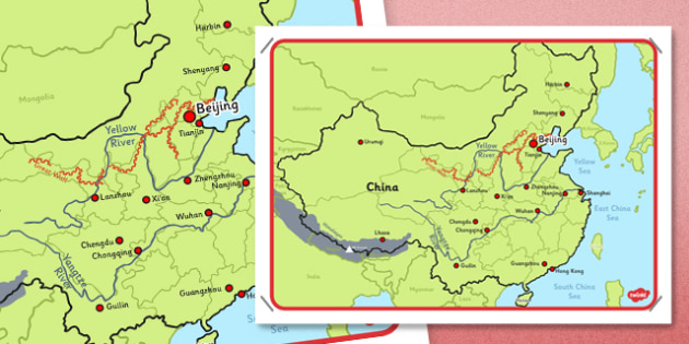 Map of China Display Poster - china, map, poster, display poster