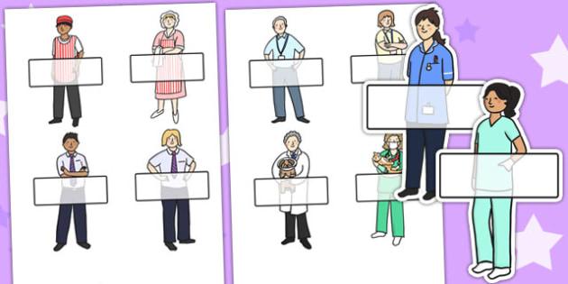 People Who Help Us Self Registration - self reg, name tags, label