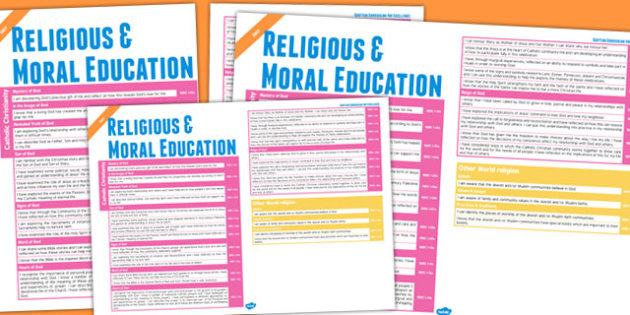 Scottish Curriculum Excellence Overview Posters First Religious