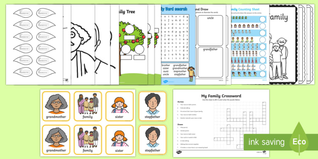 Top Ten My Family  Activity Pack - Family, all about me, my family, family tree, extended family