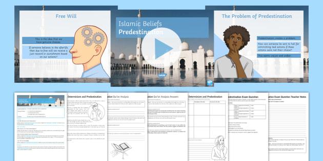 Islamic View on Predestination Lesson Pack - Islamic Beliefs; Al-Qadr; Predestination; Free Will