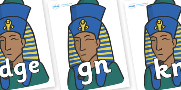 Silent Letters on Pharaohs - Silent Letters, silent letter, letter blend, consonant, consonants, digraph, trigraph, A-Z letters, literacy, alphabet, letters, alternative sounds