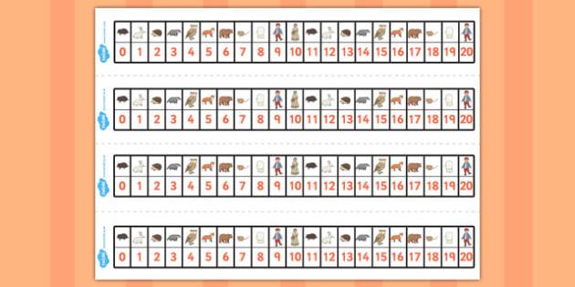The Mitten Number Track 1-20 - the mitten, number track, 0-20