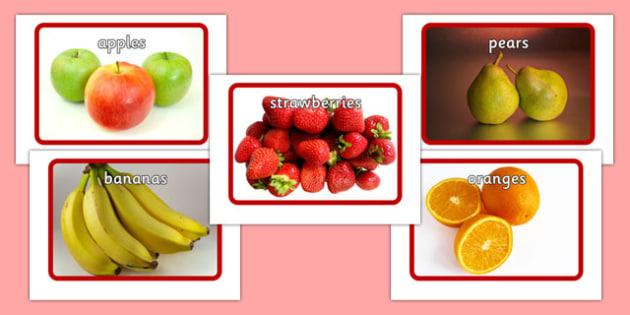 Fruit Flashcards - fruit, flashcards, flash cards, food, eal, activity