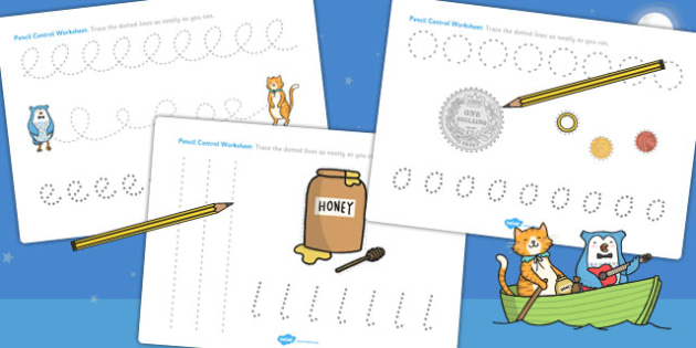 The Owl and The Pussycat Pencil Control Sheets - motor skills