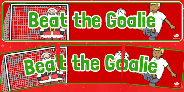 Christmas Themed Beat the Goalie Banner - christmas fair, display banner, display, banner, beat the goalie