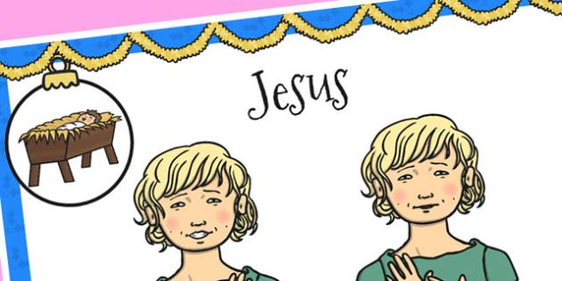 A4 British Sign Language Sign for Jesus - sign language, jesus