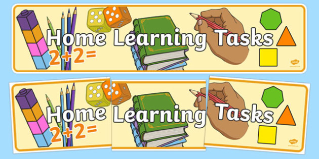 Home Learning Tasks Display Banner - home learning tasks, display banner, display, banner