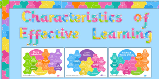 EYFS Characteristics of Effective Learning Information Display Pack