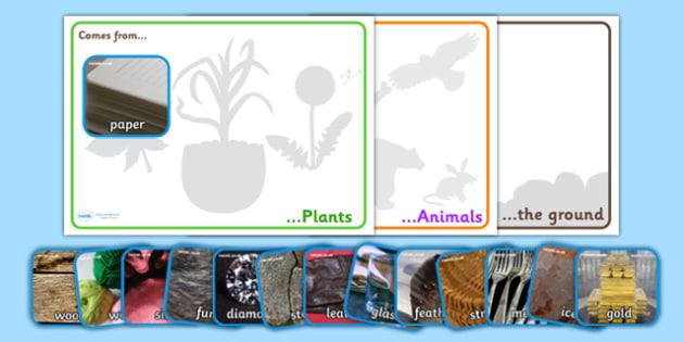 Natural Materials Sorting Activity - natural materials, sorting activity, sorting, ordering, themed sorting activity, grouping, materials, activities, game