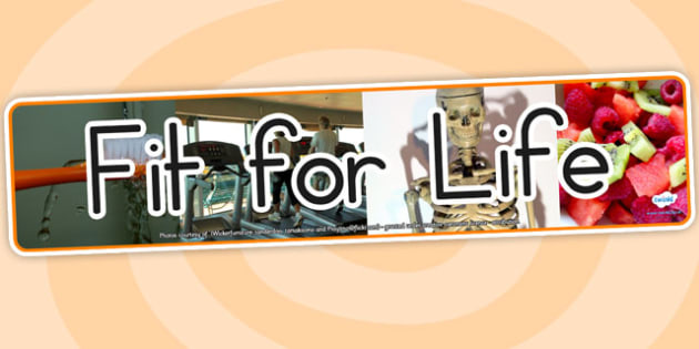 Fit for Life IPC Photo Display Banner - fitness, health, display