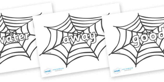 Next 200 Common Words on Spiders Web - Next 200 Common Words on  - DfES Letters and Sounds, Letters and Sounds, Letters and sounds words, Common words, 200 common words