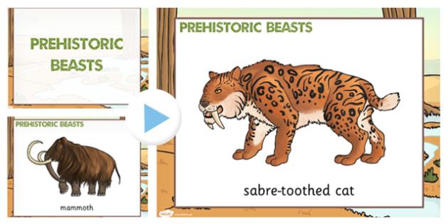 Prehistoric Beasts Picture PowerPoint - animals, history, KS2