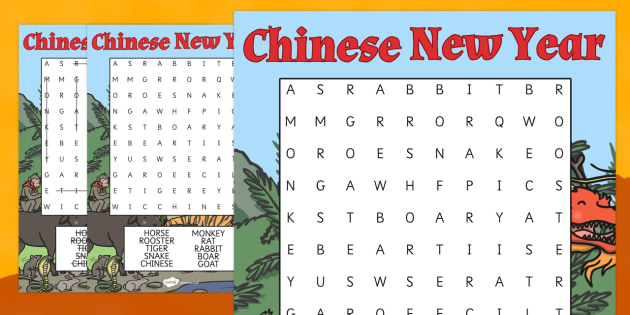 Chinese New Year Story Wordsearch - chinese, story, wordsearch