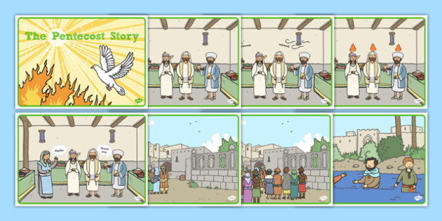 Pentecost Story Sequencing - Pentecost, Whit, Whitsun, ascension, sequencing cards, story retelling