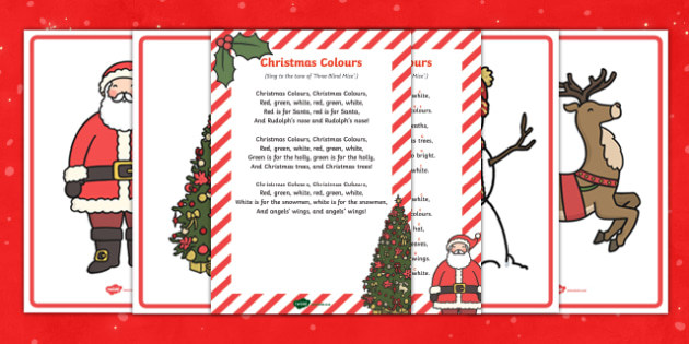Colours of Christmas Song Pack - christmas, colours, song, pack