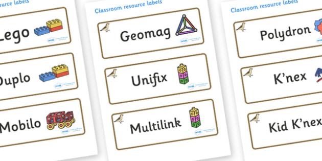 Sparrow Themed Editable Construction Area Resource Labels - Themed Construction resource labels, Label template, Resource Label, Name Labels, Editable Labels, Drawer Labels, KS1 Labels, Foundation Labels, Foundation Stage Labels
