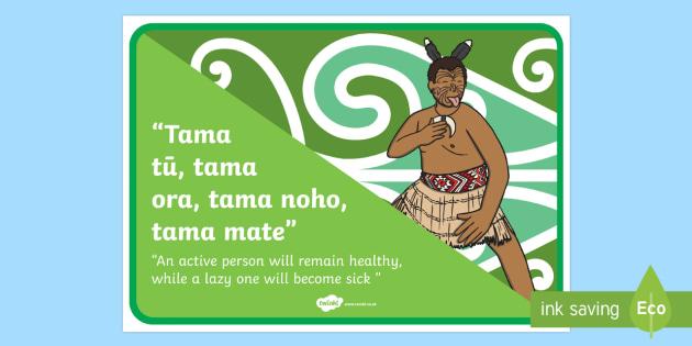 Whakatauki Tama tū, tama ora Display Poster Te Reo Maori/English - maori, proverb, whakatauki