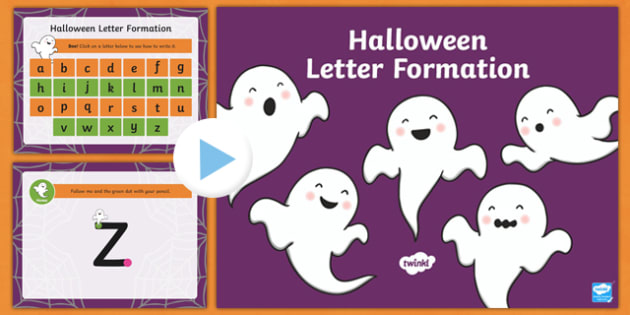 Halloween Themed Letter Formation PowerPoint