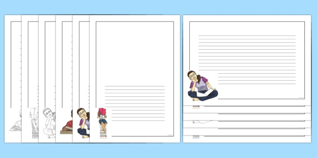 International Literacy Day Page Border Pack - Priority Resources, international literacy , literacy, reading, writing, pages, borders,