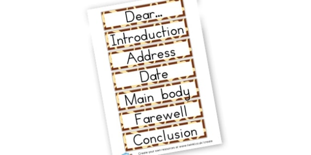 Features of a letter - Letters Postcards and Cards Primary Resources, Writing Templates