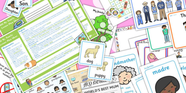 My Family KS1 Lesson Plan Ideas and Resource Pack - ks1, plan