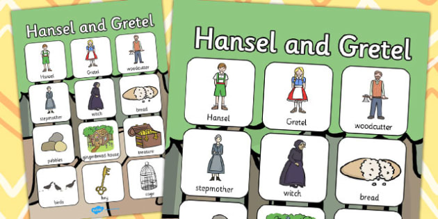 Hansel and Gretel Vocabulary Poster - vocabulary, poster, vocab